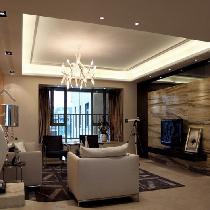 阳光锦城143平|现代时尚|三室两厅装修设计图-长沙实创装饰