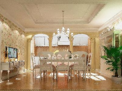 【实景装修案例】400平别墅精致舒适与品质的完美演绎-英式乡村-地下室效果图