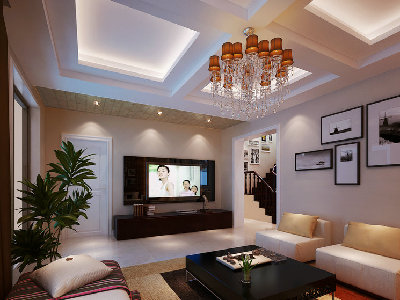 客厅是一个连接内外沟通感情的主要场所,是最能体现业主生活品味和情调的地方,设计通过颜色的整体搭配和独特的造型突出现代简约的风格。轻装修重装饰的理念,更完美的突出了业主的品味。 简单的现代家居和造型充满一种现代感。