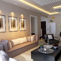 125平米现代风格三居婚房设计【龙发装饰】