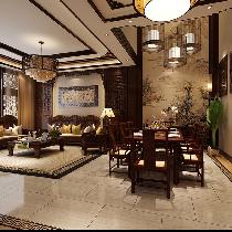 崇明岛华贸东滩花园别墅装修中式风格设计方案,我秀我家,设计师周峻推荐案例设计师咨询预约15800615719