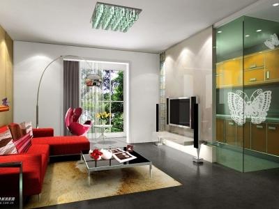 采用透明玻璃门:一来可以增加采光,使整个空间显得更加通透,整体;二来可以阻挡炒菜时的油烟.