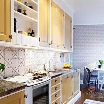 78平简约二居室三口之家 空间采光充足