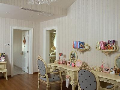 【实景装修案例】400平别墅精致舒适与品质的完美演绎-英式乡村-起居室实景图