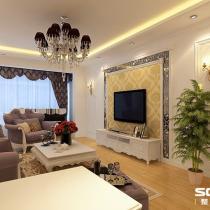 哈尔滨实创装饰打造青年城邦小区117平舒适简欧两居