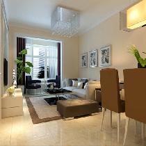 温馨又简单大方5.8万顶秀金石简约80平米设计两居室