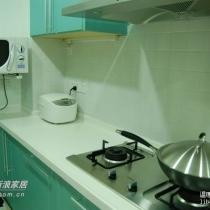 这一张能看到微波炉和电饭锅,都是每天都要用的小家电
