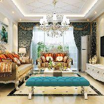 锦绣逸庭118平三居室新古典风格都市中的奢华