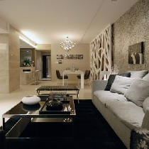 典型的黑白灰现代时尚风格
