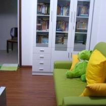 书房的沙发和书架