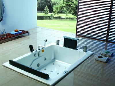 安静的水疗享受,华美嘉诺亚-WK-B39浴缸。让你在舒缓身心、提神醒脑之余,增加舒畅感觉。