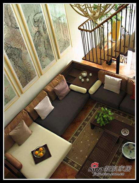 楼上看客厅