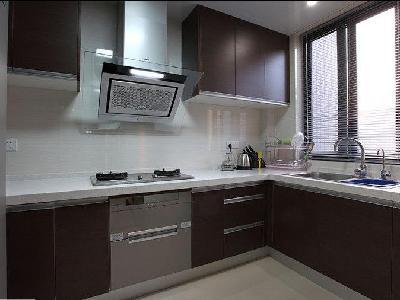 厨房简单的设计。还是以实用为主吧!