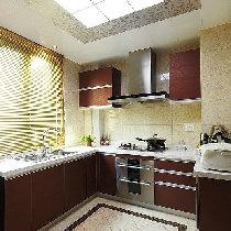 厨房简洁干净的摆设,看着就很舒服。