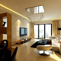 大户型现代清新风格居家空间