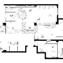 隆瑞园二层平面布置图