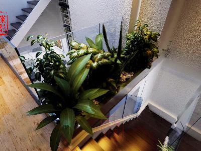 北欧简约大宅设计——楼梯景观