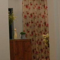 从客厅看门厅(呵呵,忘了刷鞋柜背面的漆,准备用快花布遮)