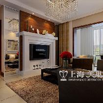 天骄华庭90平三室装修深色现代简约效果图样板间——客厅布局
