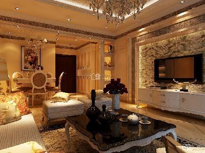 贵阳家庭装修首选一号家居网,国际城120平方装修效果图。