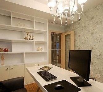 书房暂时还只是硬装,书都还没有摆上,但是整体还是以简洁为主。
