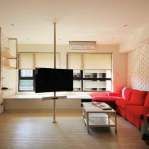 个性时尚开放设计 潮夫妻75平简约两居室
