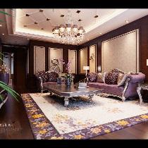 装修案例-祥云国际经典欧式风格装修-石家庄实创装饰-客厅效果图