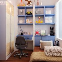 荣和大地108平米地中海风格装修案例—小孩房