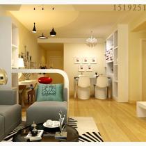 新都心苑84平两居室简约装修设计|青岛实创装饰