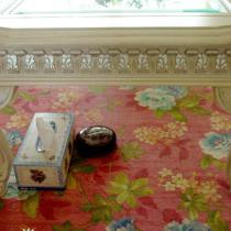 """在""""居然""""一眼就看上的地毯,美啊·从此沙发前再也不是光秃秃的了^_^"""