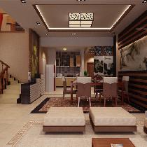 悦居装饰︱万昌邕江明珠 中式风格 复式楼精品装修案例