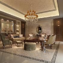 会客室是选用格莱斯的抛光砖,抛光砖坚硬耐磨,适合在除洗手间、厨房以外的多数室内空间中使用。