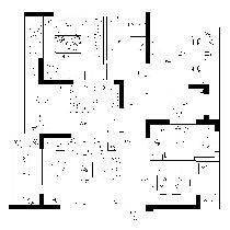 顺园小区-一层平面家具布置图