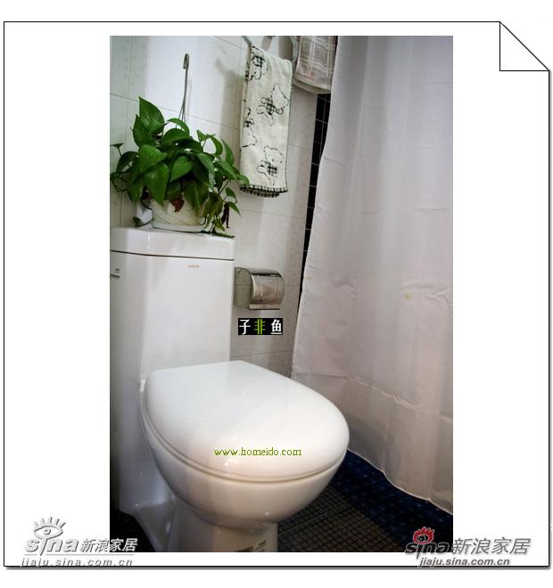绿色植物的加入给卫浴间增添了几分自然通透的感觉,清新素雅