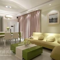 客厅,我那个曾经觉得颜色难搭的沙发,搭配了绿色的餐桌和茶几,是曾经我没想到过要用的颜色~