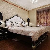 卧室依旧是延续欧式风格。古典的欧式风家具很出彩吧!