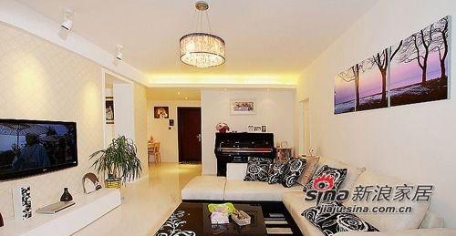 客厅,我家的抽屉连拉手的钱都省去了,设计师真好。