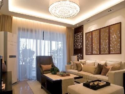 中式风格一样也很时尚。客厅简洁设计