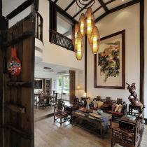 胡桃木色的中式三居 复古潮流新诠释