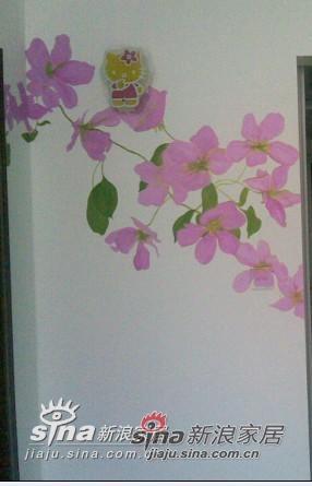 入门的一面墙,(为完成的画~)壁灯准备换~~~~~~~~