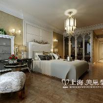东明花园三室两厅装修欧式142平效果图——卧室