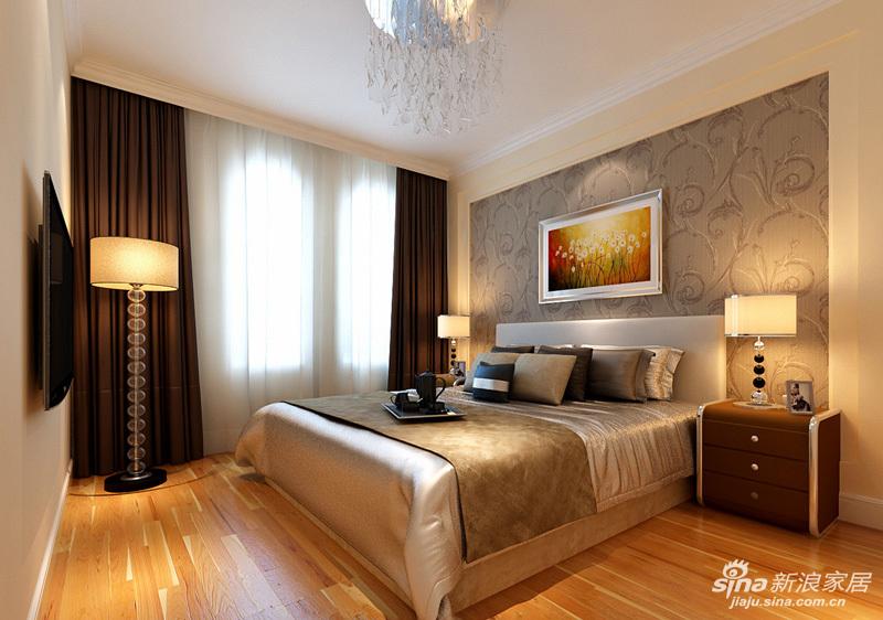 """一楼卧室 14平米简约温馨卧室 """"设计理念:卧室作为业主休息的场所,不需要过多的装饰,浅色和木本色的运用有一种回归大自然的舒适与恬静。亮点:配上素白的纱帘,轻巧浪漫,绝佳的采光让卧室中的时光更加惬意美好。"""""""