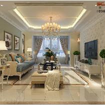 中海一里城132平浪漫法式风格装修