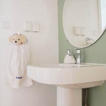 客卫洗手的区域是没有门的,直接与走道连通,门打开只有马桶和淋浴区,这样洗手就方便多了