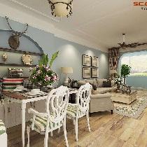 【实创装饰】龙湖滟澜海岸85㎡美式风格设计