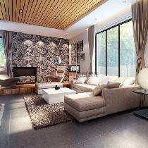 长沙实创装饰-61万打造金色溪泉湾极简风别墅装修效果图