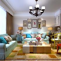 金舍博闲苑99平二室打造色彩明亮的文艺空间