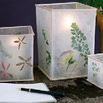 DIY手工制作植物压花蜡烛灯罩