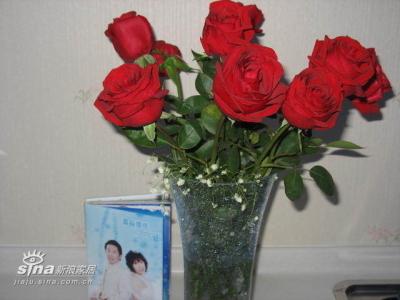 情人节老公送的玫瑰花!