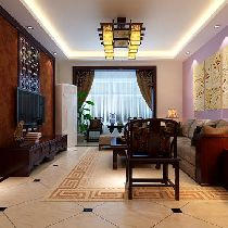 新城国际花都中式韵味简约时尚三居室